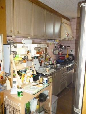 キッチンリフォームのビフォー写真