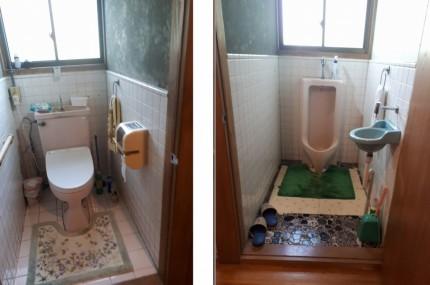 二つに分かれたトイレ