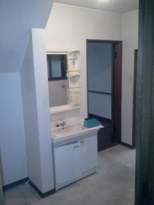 洗面脱衣室リフォームのビフォー写真