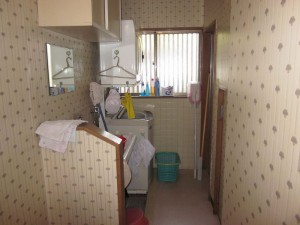 洗濯室リフォームのビフォー写真