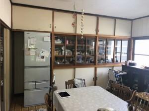 造作食器棚リフォーム前