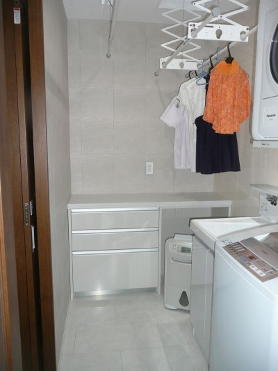 洗濯室リフォームのアフター写真