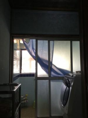 浴室引違い戸リフォーム前