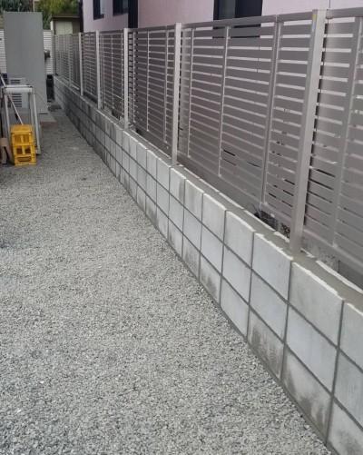 フェンス工事完了写真