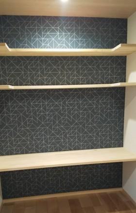 書斎の造作机・本棚