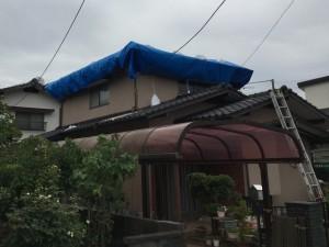 屋根リフォームのビフォー写真