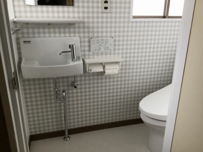 トイレ手洗いアフター