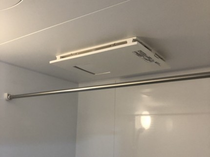 浴室リフォーム後、暖房換気乾燥機